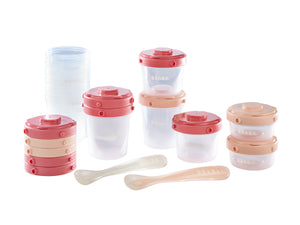 1st meal set - Set of Clip Portions + 1st age Silicone spoon
