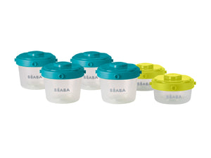 Set of 6 Clip Portions  -  1st age - 60ml + 120m