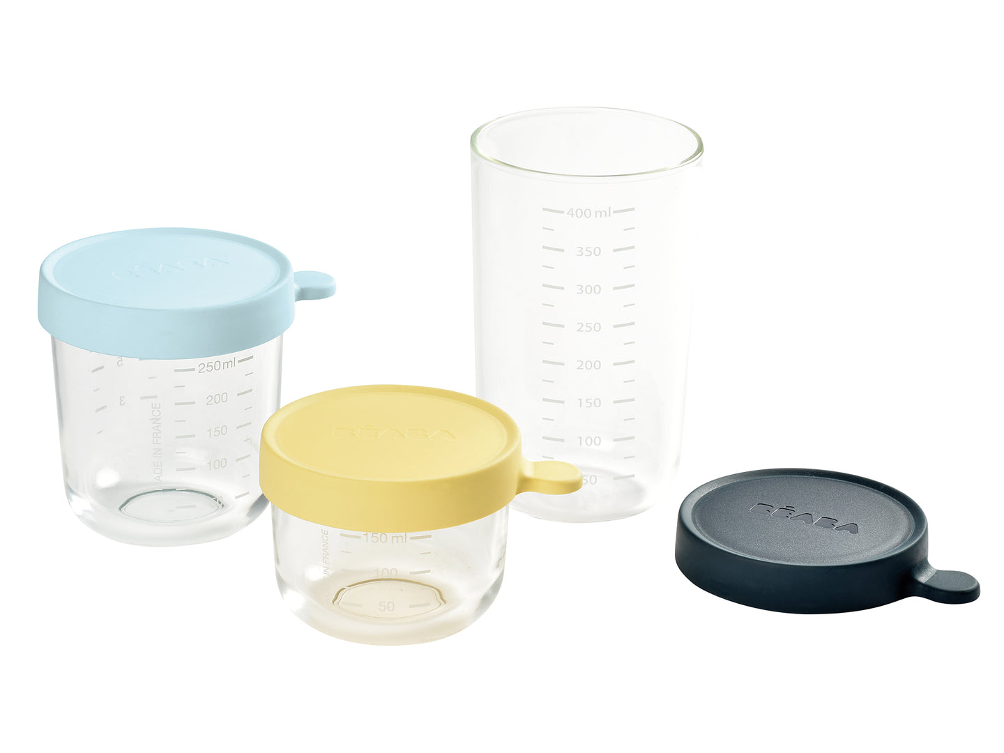 Set of 3 Superior Glass Conservation Jars