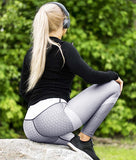 Workout Leggings Black White