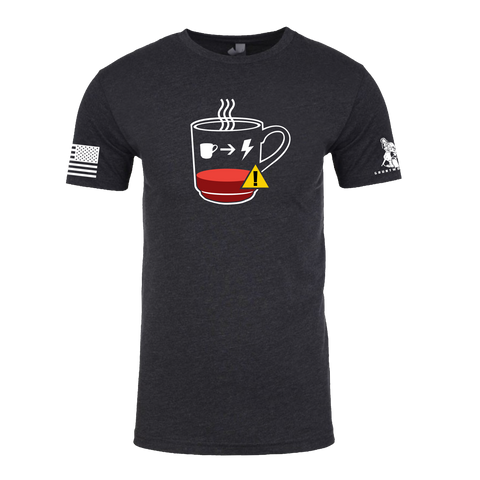BATTERY LOW, NEED COFFEE T-SHIRT