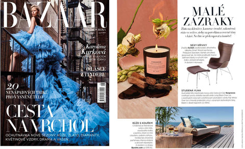 Byssine press in Harper's Bazaar