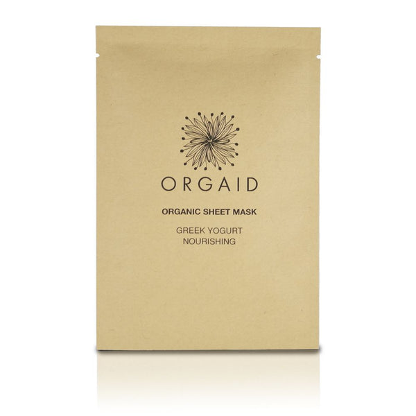 Orgaid Greek Yoghurt & Nourishing Sheet mask, platýnková maska