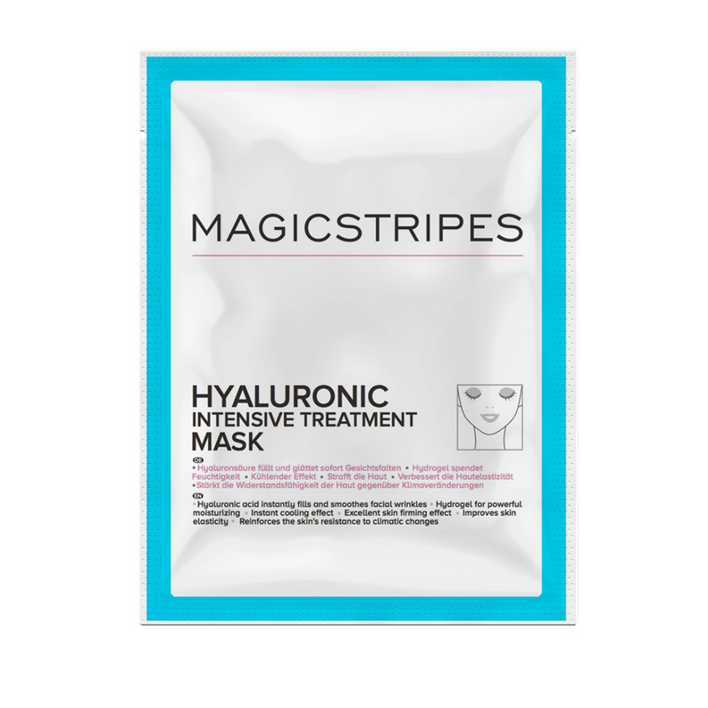 Magicstripes, Hyaluronic Intensive Treatment mask, sheet mask, platýnková maska