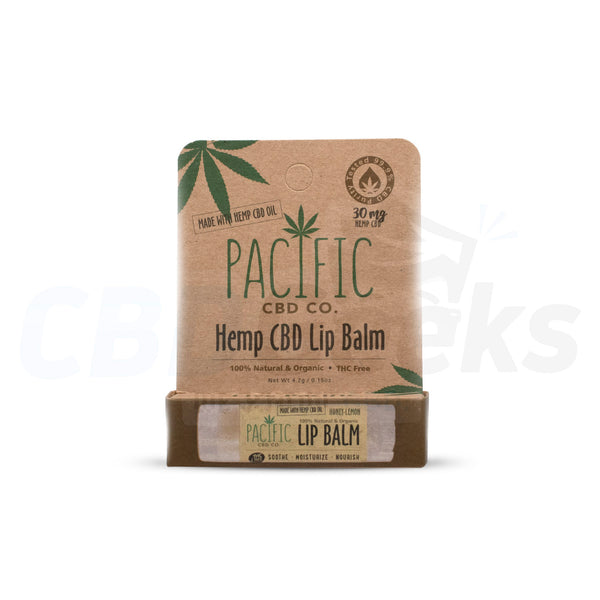 Pacific Co. - CBD Lip Balm - Honey Lemon (30mg) - cbdgeeks