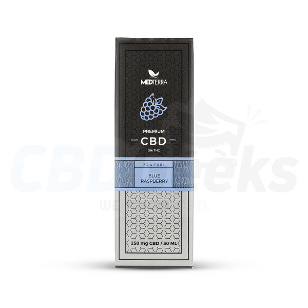MedTerra CBD Vape - Blue Raspberry 30ml (250 MG) - cbdgeeks