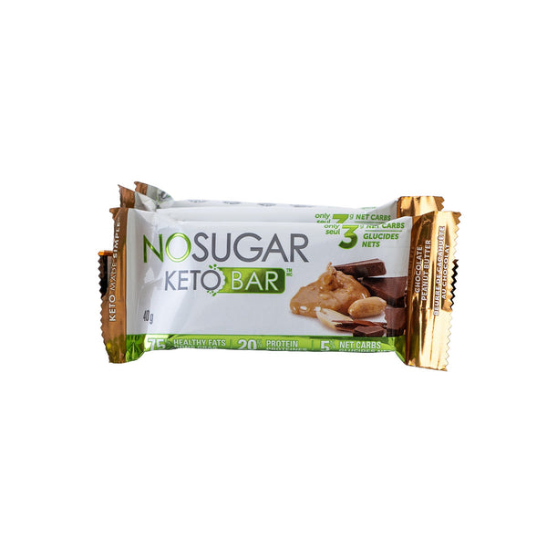 No Sugar Keto Bar: Chocolate Peanut Butter
