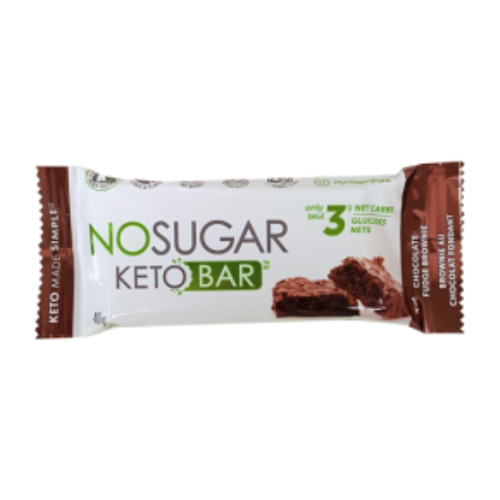 No Sugar Keto Bar: Chocolate Fudge Brownie