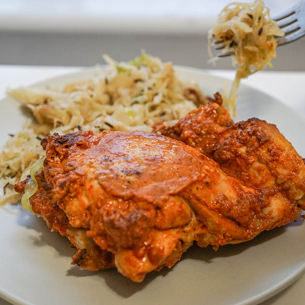Indian Chicken with Masala Cabbage