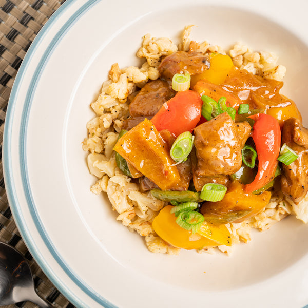 General Tso Chicken on Cauli-Rice