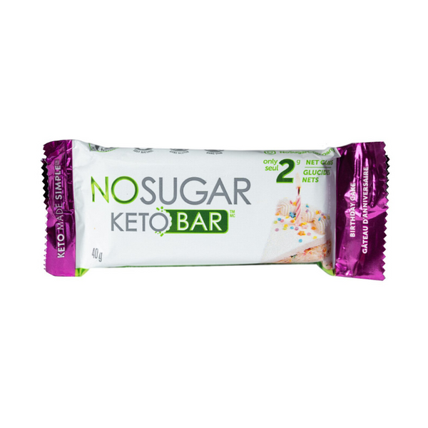 No Sugar Keto Bar: Birthday Cake