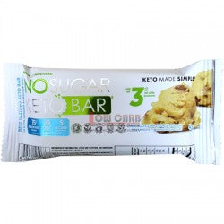 No Sugar Keto Bar: Chocolate Chip Cookie Dough