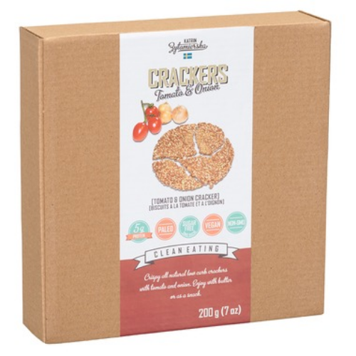KZ Clean Eating High Fibre Scandinavian Crackers, Tomato & Onion, 200g