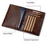 KAVI'S Genuine Leather Travel Wallet