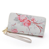 Luxe Leather Rose Wristlet