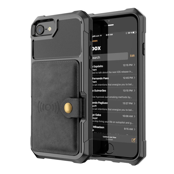 Durable Armor iPhone Wallet Phone Case
