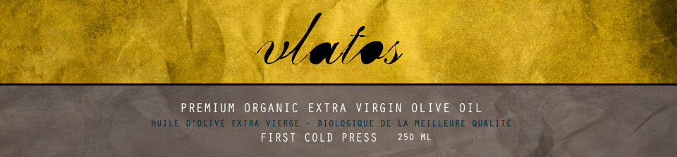 Vlatos olive oil label
