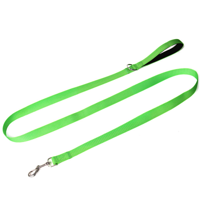 6 Foot Nylon Dog Leash with Padded Handle