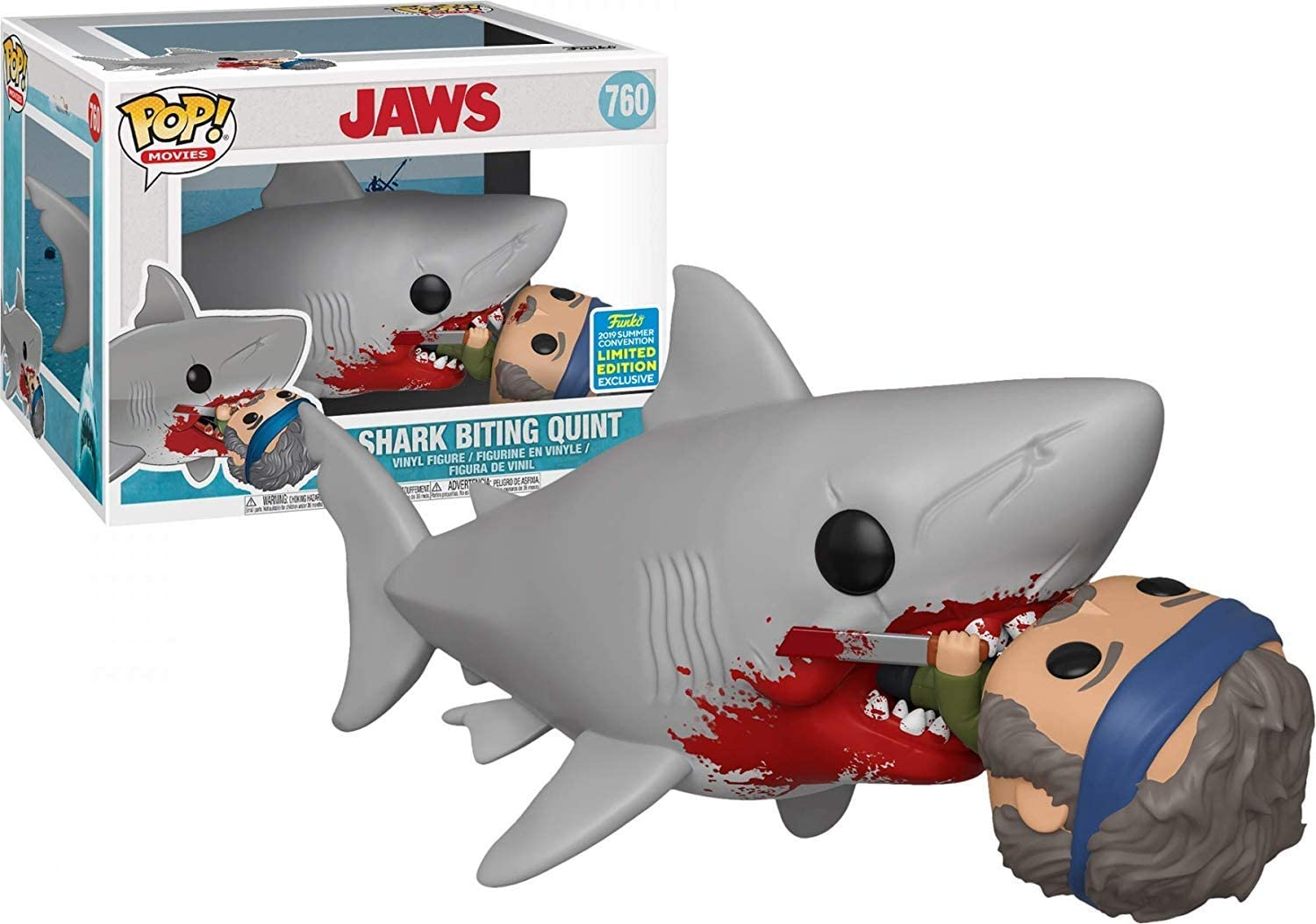 Jaws Eating Quint 6-Inch Pop! Vinyl Figure #760 - 2019 Convention Exclusive
