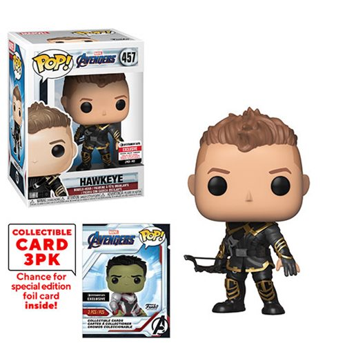 Avengers: Endgame Hawkeye Pop! Vinyl Figure #457 with Collector Cards - Entertainment Earth Exclusive