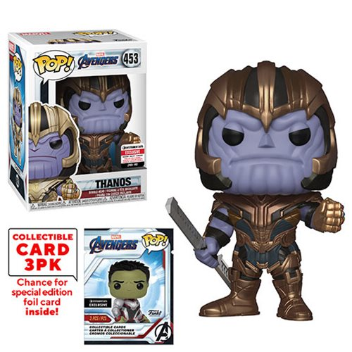 Avengers: Endgame Thanos Pop! Vinyl Figure #453 with Collector Cards - Entertainment Earth Exclusive