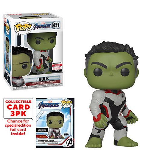 Avengers: Endgame Hulk Pop! Vinyl Figure #451 with Collector Cards - Entertainment Earth Exclusive