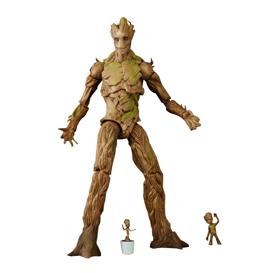 Guardians of the Galaxy Marvel Legends Groot Evolution Action Figures Set - Exclusive