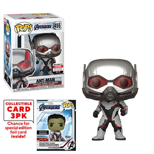 Avengers: Endgame Ant-Man Pop! Vinyl Figure #455 with Collector Cards - Entertainment Earth Exclusive