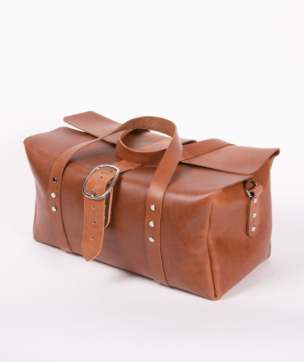 9ba8f0350 Load image into Gallery viewer, Handmade Leather Duffel Bag - Medium ...