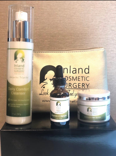 The Essentials Trio: Gently Cleanser, Vitamin C Serum, Intensive Eye Therapy