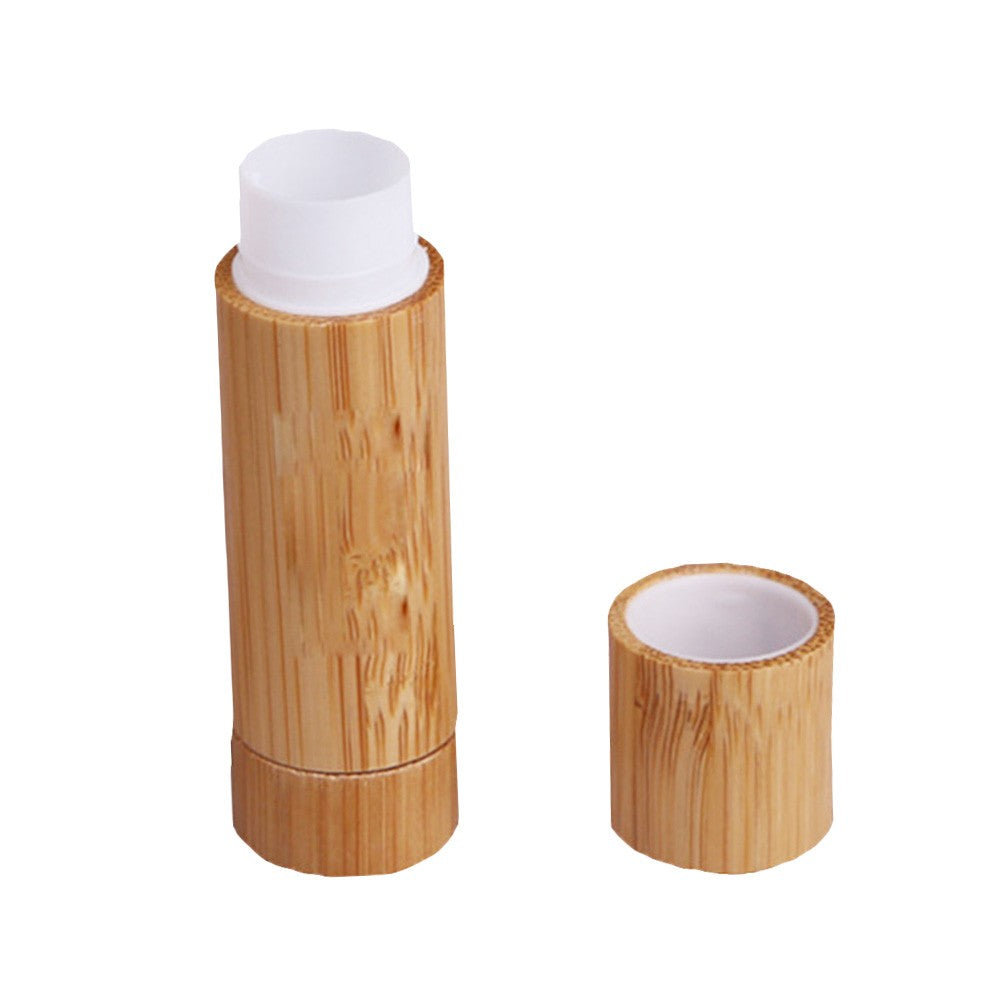 Wooden Bamboo New Lip Balm Tubes with Caps Tubes for Lipstick