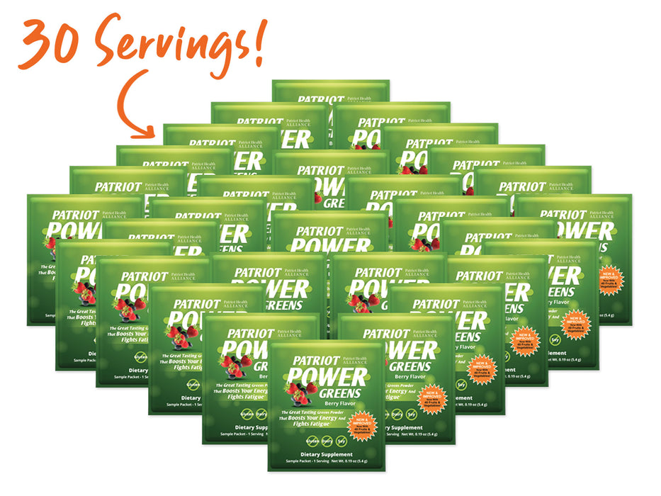 Patriot Power Greens 30 Travel Packets