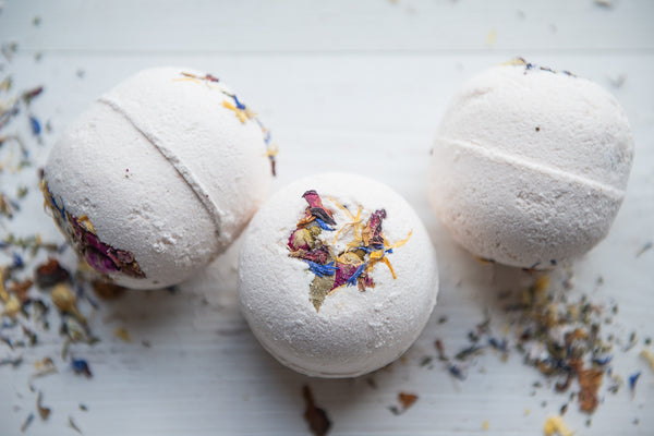 Rose Geranium & Pink Clay Bath Bomb