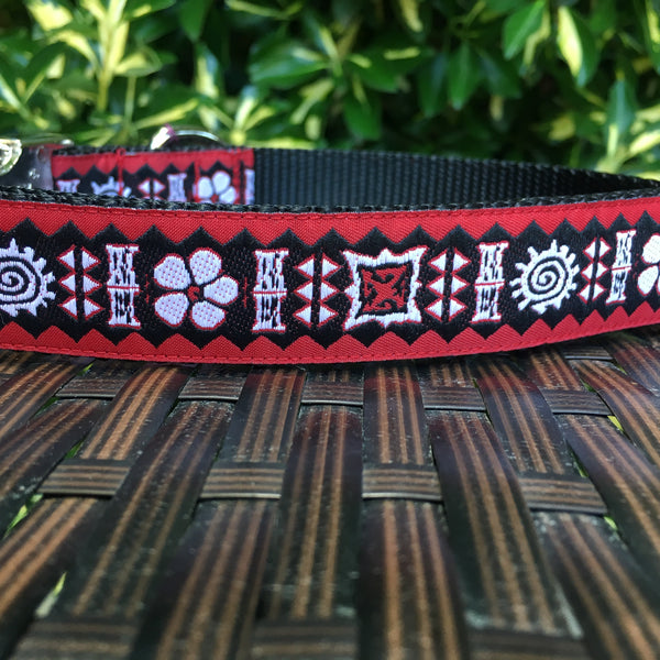 Red Luau Dog Collar