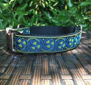 Yellow Hearts Dog Collar