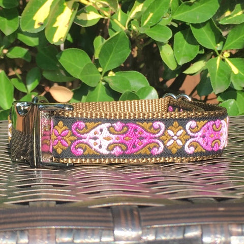 Celtic Shades of Pink Dog Collar
