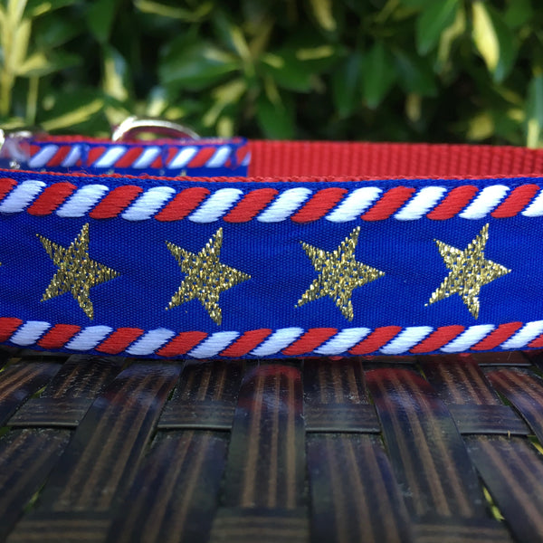 Stars and Stripes Dog Collar - Hound Lines