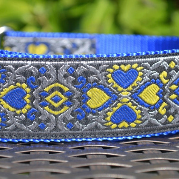 Lucky Hearts in Silver Martingale - Hound Lines