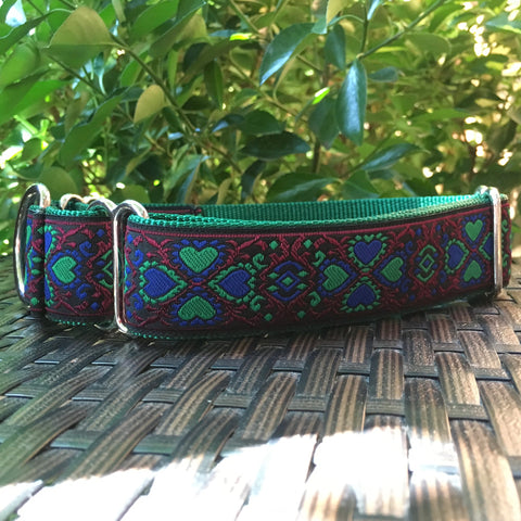 Lucky Hearts in Green Martingale - Hound Lines