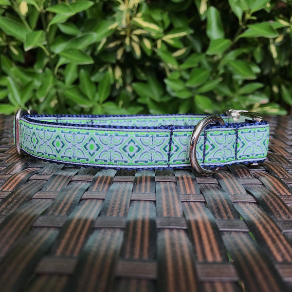 Blue Diamond Dog Collar