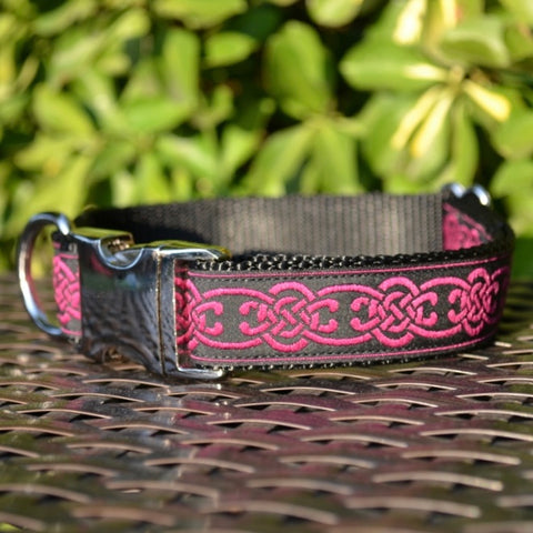 Magenta Celtic Dog Collar - Hound Lines