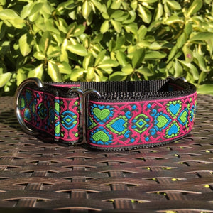 Lucky Hearts in Pink Martingale - Hound Lines