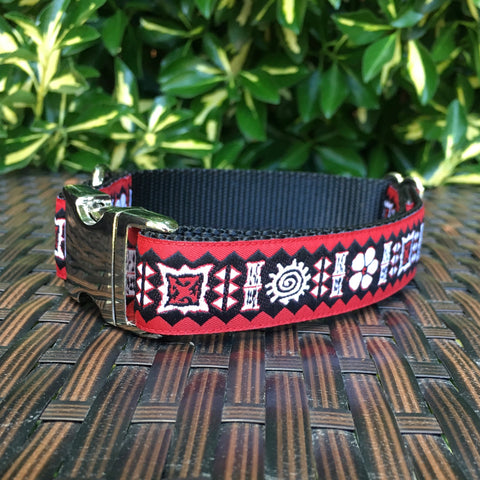Red Luau Dog Collar - Hound Lines