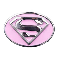 Boucle  de Ceinture  superman rose , supergirl   , CowGirl , femme  , country