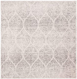 Geometric Trellis Distressed Cream/Yellow  Soft Area Rug