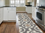 Trellis /Grey Cream Shag Area Runner