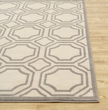 Geometric Cream Gray/Grey Area Rugs