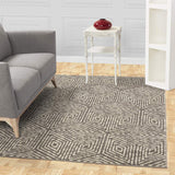 Contemporary Geometric Gray Ivory Area Rugs