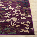 Floral Purple Soft Area Rugs