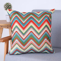 Geometric Floral Throw Pillow Covers
